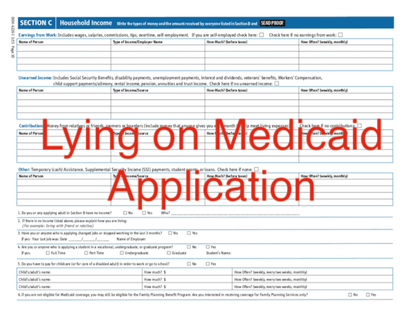 Lying on Medicaid Application