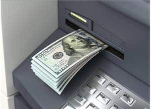 withdrawing money from a bank account after death